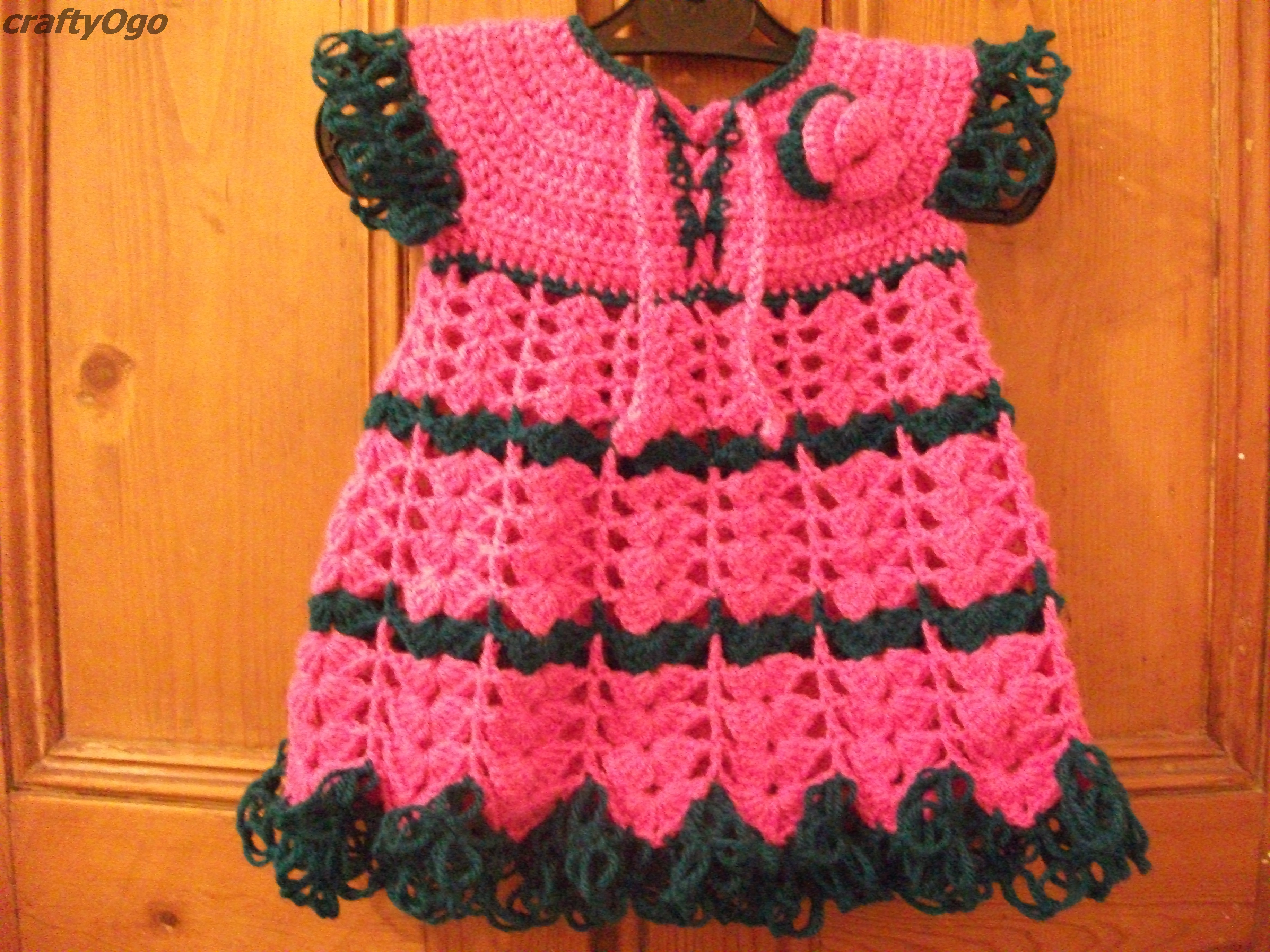 The link to the crochet baby dress like i promised craftyogo a free tutorial on how to crochet a baby dress bankloansurffo Gallery